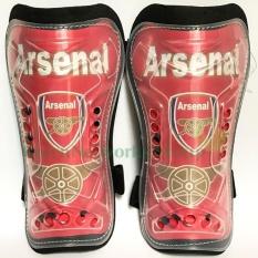 Bảo vệ ống chân đá bóng GreenNetworks cao cấp (fan Arsenal)