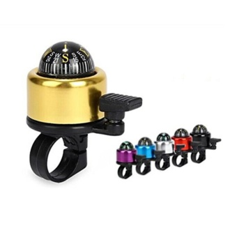 Bicycle compass bell yellow - intl