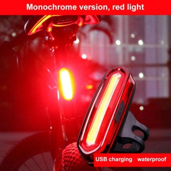 Bike Rear Light Safety USB Rechargeable Bicycle Cycling TaillightTail LED Lamp