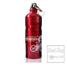 Nơi Bán Bình uống nước nhôm treo xe đạp 750ml Màu Đỏ