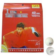 Bộ 100 trái banh bóng bàn 1 sao 729 (Trắng)