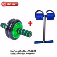 Bộ 2 món dụng cụ tập thể dục đa năng Tummy và con lăn (Xanh)