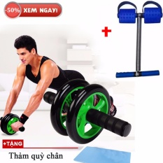 Bộ 2 món dụng cụ thể dục đa năng Tummy và con lăn tập cơ bụng (Xanh)