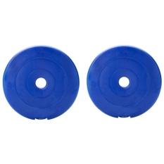 Bộ 2 tạ miếng nhựa 5 kg (Xanh)