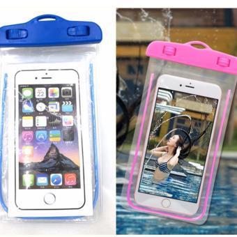 Bộ 2 Túi chống nước an toàn cho điện thoại Iphone 5/6/6Plus (Hồng -Xanh Coban)