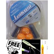 Bộ 2 vợt bóng bàn cao cấp kèm 3 bóng LX-2162A tặng kèm lấy ráy tai có đèn