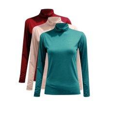 Bộ 3 áo giữ nhiệt cổ 3 phân, tay dài ( đô, da, xanh lý)