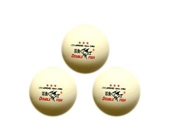 Bộ 3 trái banh bóng bàn 3 sao Double Fish-B07 (Trắng)