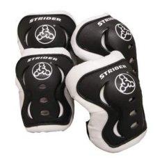 Bộ bảo vệ đầu gối khuỷu tay trẻ em Strider (Đen)