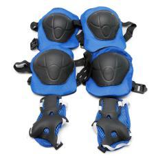 Bộ bảo vệ đầu gối, tay, chân an toàn cho bé (Xanh)