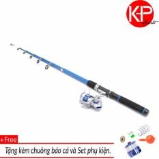 Bộ cần câu Blue New 2m1 kèm máy và 100m dây cho người mới tập câu