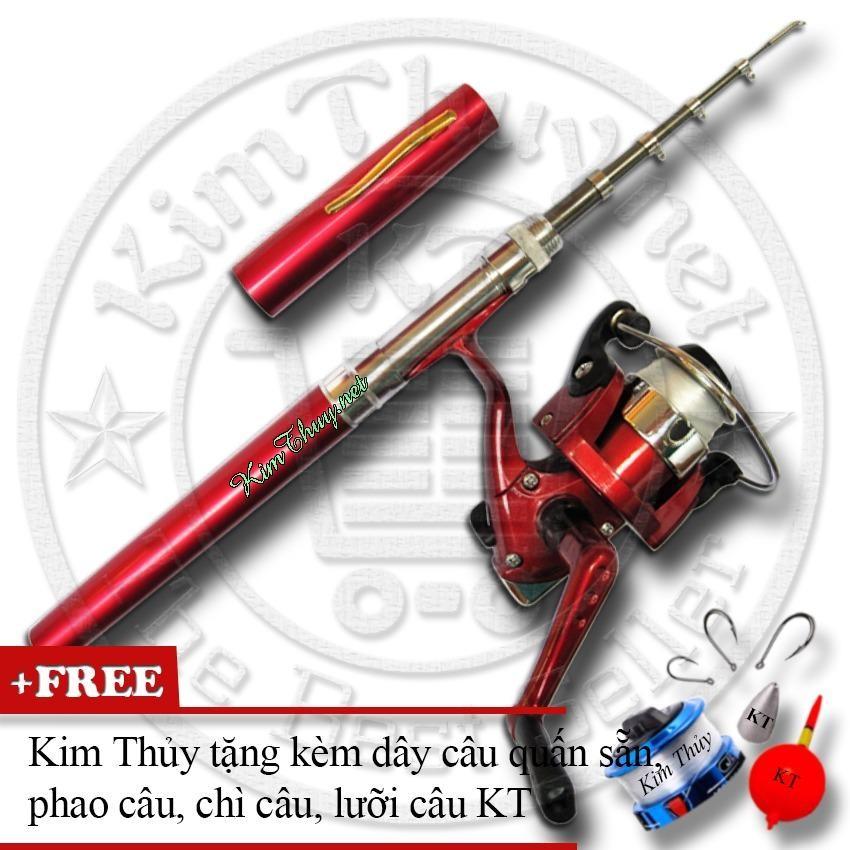 Bộ cần câu cá du lịch (*Kim Thủy) KT Mini M1 Red 100cm