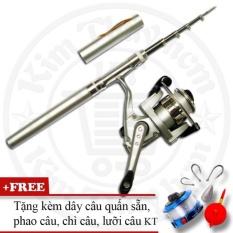 Bộ cần câu cá du lịch (*Kim Thủy) KT Mini M1 Silver 100cm