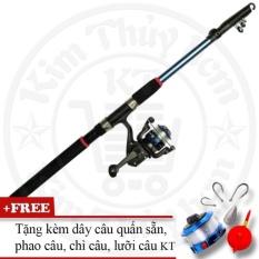 Bộ cần câu cá tiện dụng (*Kim Thủy) KT Blue 3.0M