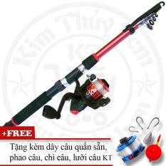 Bộ cần câu cá tiện dụng (*Kim Thủy) KT Red 2.1M