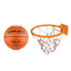 Bộ quả bóng rổ Gerustar số 7 và vành rổ ZENO 40cm