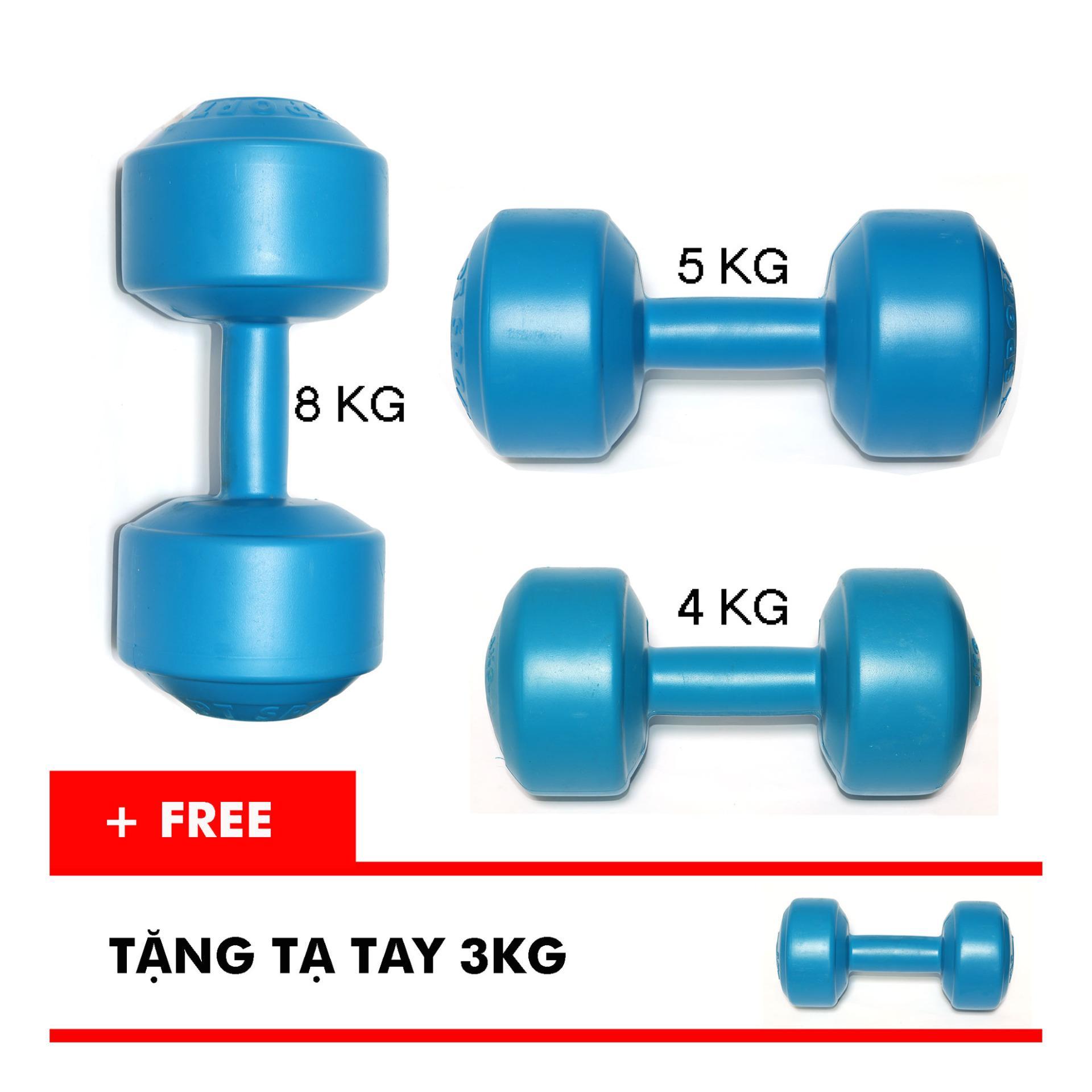 Bộ tạ tay VN 4kg, 5kg, 8kg (Tặng kèm tạ tay 3kg)