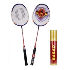 Bộ vợt cầu lông Haotian 7725 + Cầu lông Ba Sao tập luyện (10 quả)