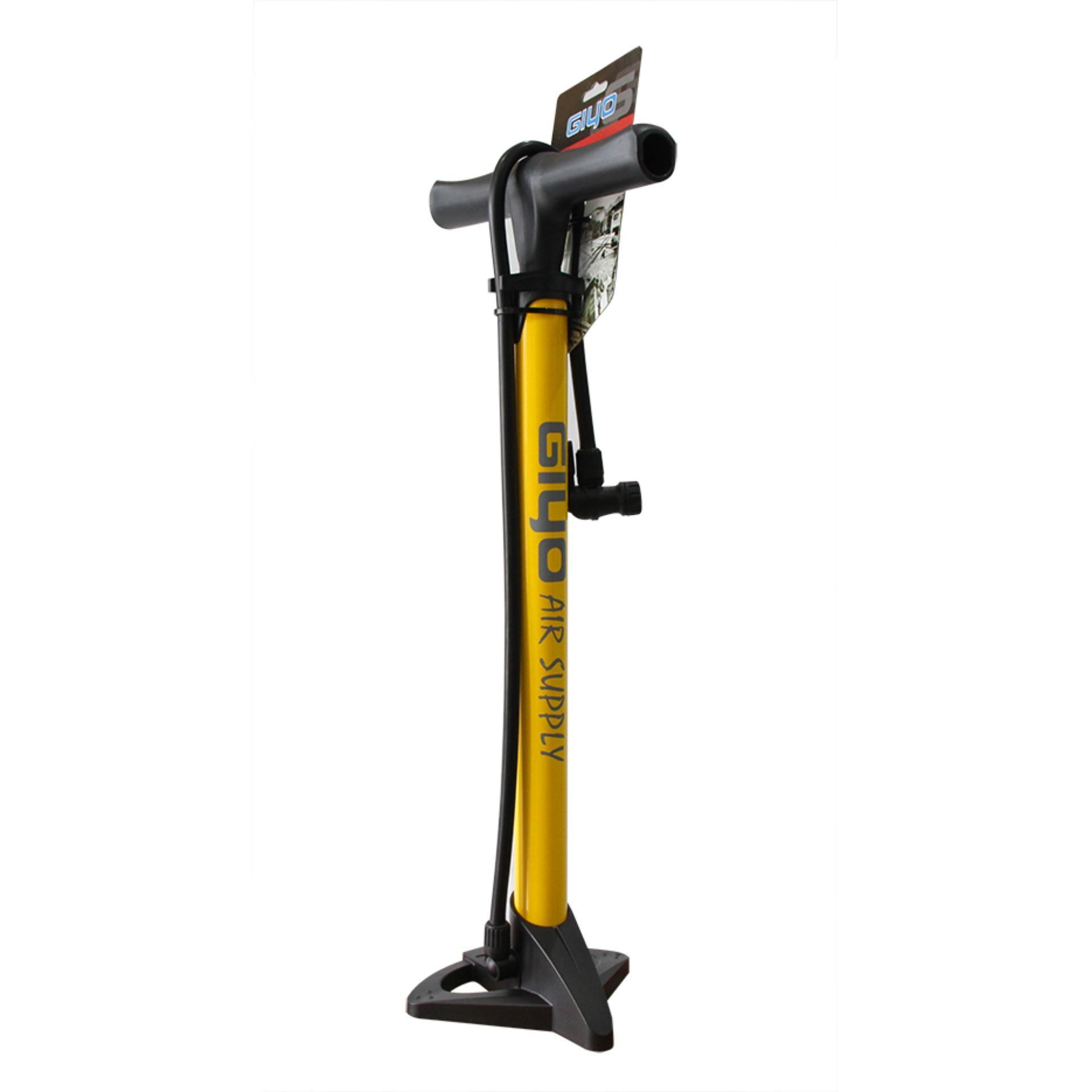 Bơm sàn xe đạp GIYO GF-37 (Vàng)