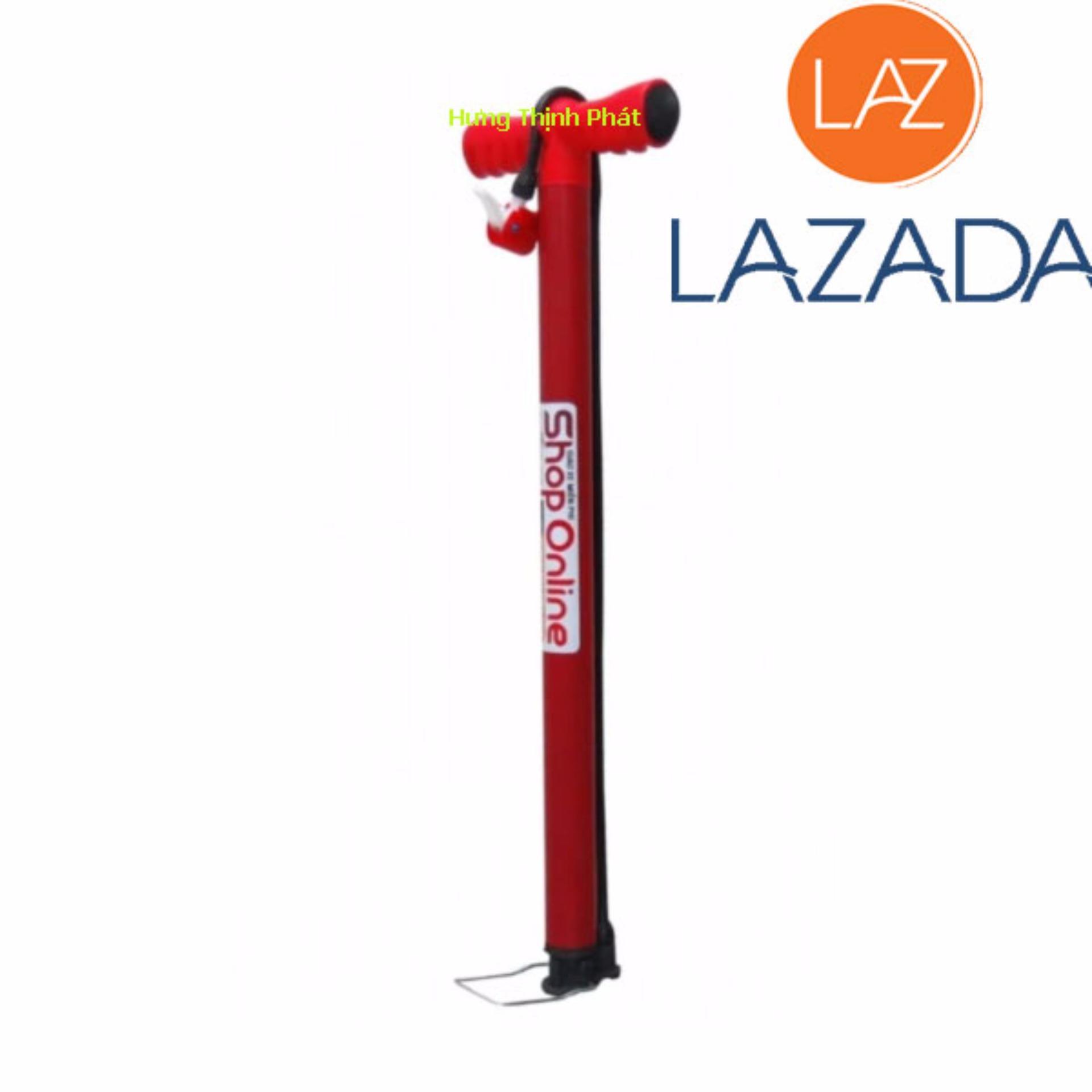 bơm xe đạp xe máy hay Bơm ống kiểu truyền thông ( mầu đỏ )