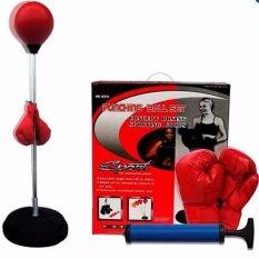 Bóng phản xạ ( Đỏ)+ Găng tay boxing+ Bơm.