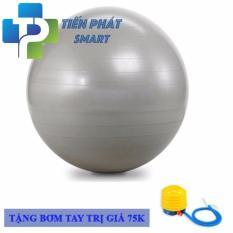 Bóng tập Yoga và massage Gym cao cấp+ Kèm bộ dụng cụ bơm hơiTPS Trơn 75CM