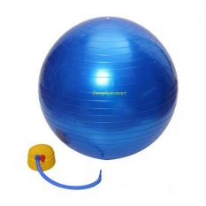 Bóng Yoga cao cấp+ Kèm bộ dụng cụ bơm hơi TPS Trơn 65CM (Xanh dương)