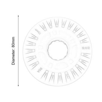 CHEER LED Flash Wheel Speed Skating Shoes Hardness Braking Wheels Inline Skating - intl