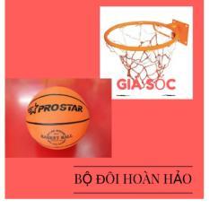 Combo bộ sản phẩm Vành bóng rổ 30cm + quả bóng rổ (Cam)