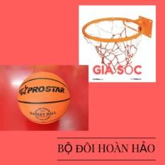 Cửa hàng bán Combo bộ sản phẩm Vành bóng rổ 40cm + quả bóng rổ số 5 (Cam)