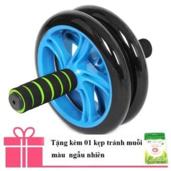 Con lăn tập bụng 2 bánh xe cao cấp Double Wheel + Tặng ngay kẹp tránh muỗi