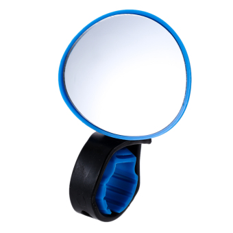 Cycling Bike Bicycle Handlebar 360 Degree Rotate Rear View Mirror(Blue) - Intl