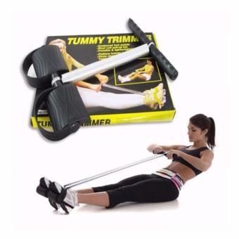 Dây kéo tập lưng và bụng Tummy Trimmer (Đen)