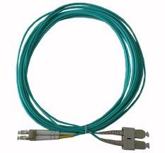 Dây nhảy quang LC-SC Multi-mode OM3 10G Duplex 3M (Xanh)
