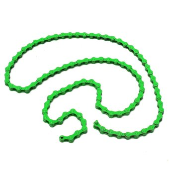 Dead coaster chain / road bike chain color / fixed gear track mountain bike chain / chain multiple colors / Dead coaster dedicated chain / single speed link Green - intl