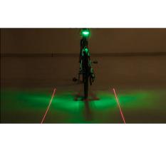 Đèn hậu laze cảnh báo SL -118 dành cho xe đạp (Đen)