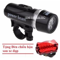 Đèn pin gắn xe đạp + Tặng kèm Đèn chiếu hậu 5 LED WJ-101 (Đen đỏ)