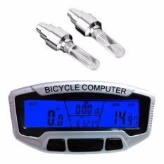 Đồng hồ tốc độ xe đạp SunDing SD-558A và 2 đèn Led gắn van xe (đổi màu)