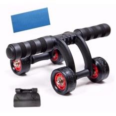 Dụng cụ tập cơ bụng đa năng 4 bánh cao cấp (Tặng thảm lót + Tấm chắn lực)