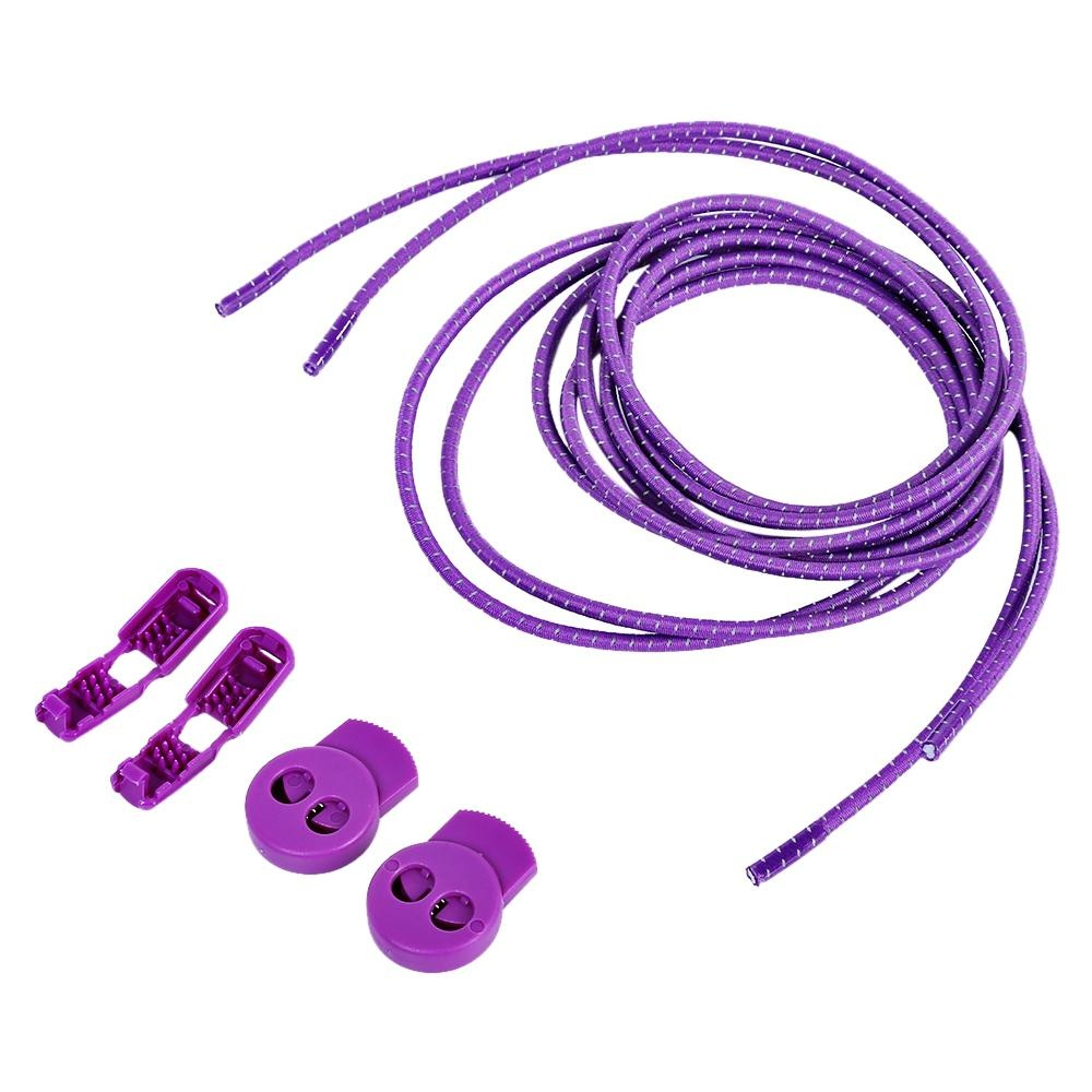 Durable Shoe Lock Lace No Tie Latchet Roller Skate Parts (Purple) - intl