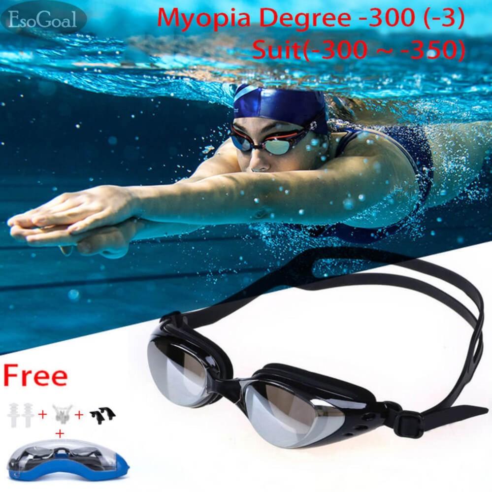 EsoGoal Cận Thị Kính Bơi (-200 ~-500), Kính Bơi Chuyên Nghiệp Kính Bơi, ba môn phối hợp Kính, Chống Rò...