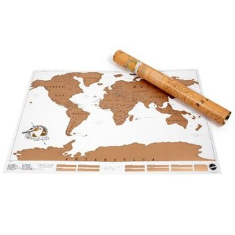Fancyqube Scratch Off Map Personalized World Map Poster TravelVacation - Intl
