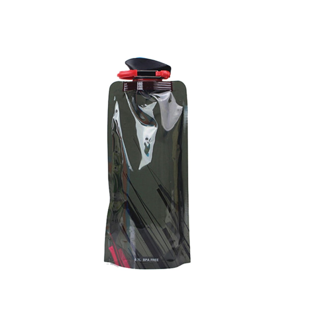 ... Foldable Drinking Water Bottle Bag Pouch Outdoor Hiking Camping Water Bag - intl ...