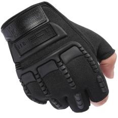 Găng tay bao vệ tay phượt thủ Nữa ngón – Quốc tế – Đen
