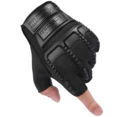 Găng tay bao vệ tay thể thao Nữa ngón – Quốc tế – Đen – Lazada