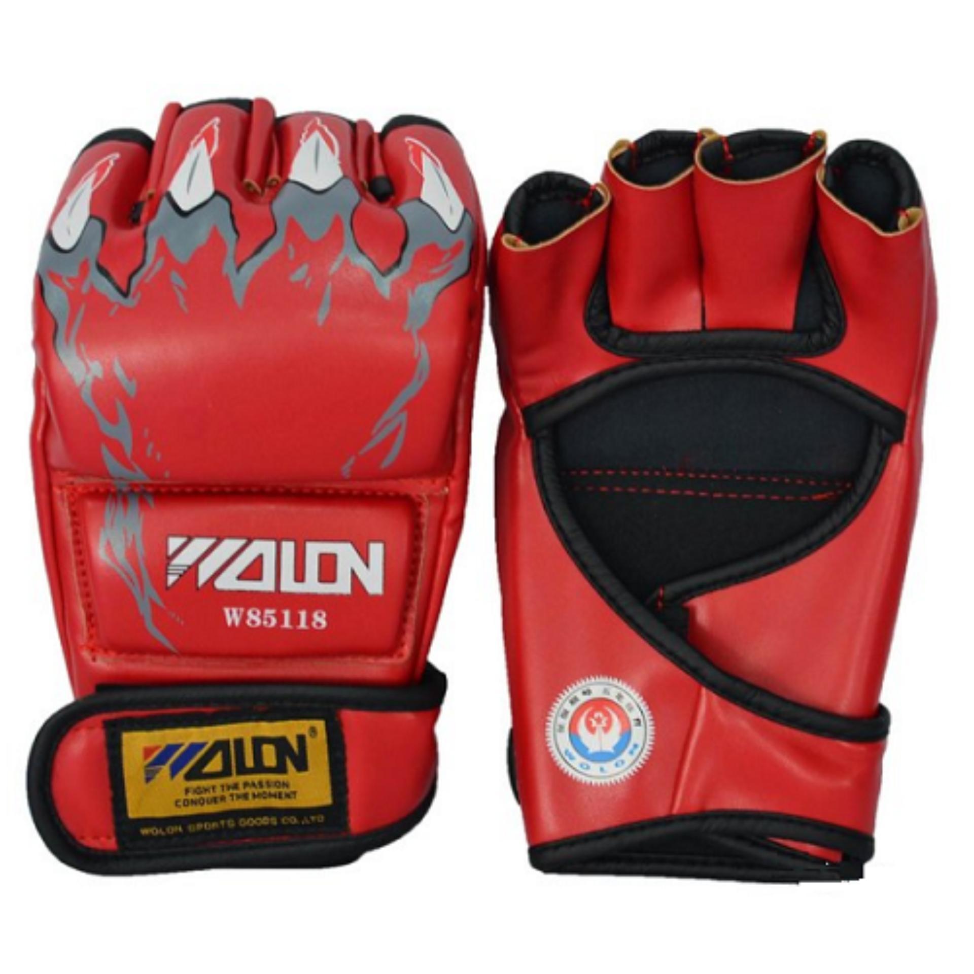 găng tay boxing / MMA wolon (đỏ)