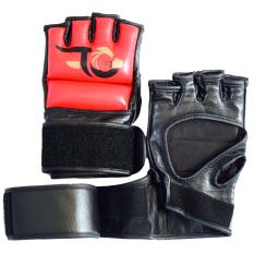 Găng Tay da hở ngón MMA TGB Sparring Gloves (Đen đỏ)