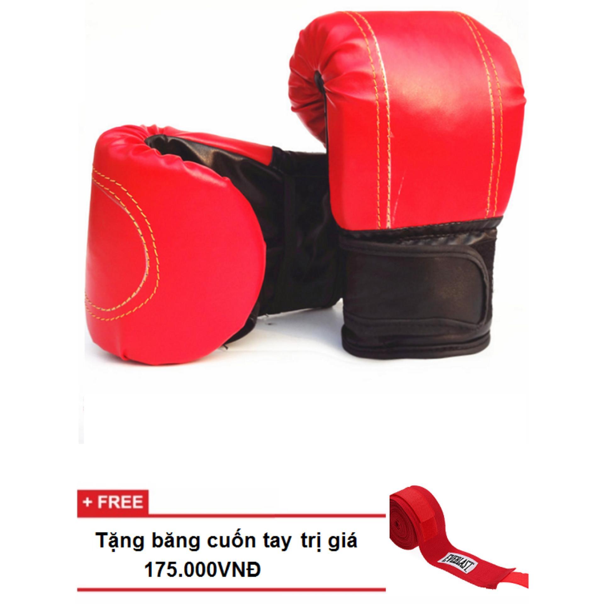 găng tay đấm bao cát / MMA + tặng băng quấn tay