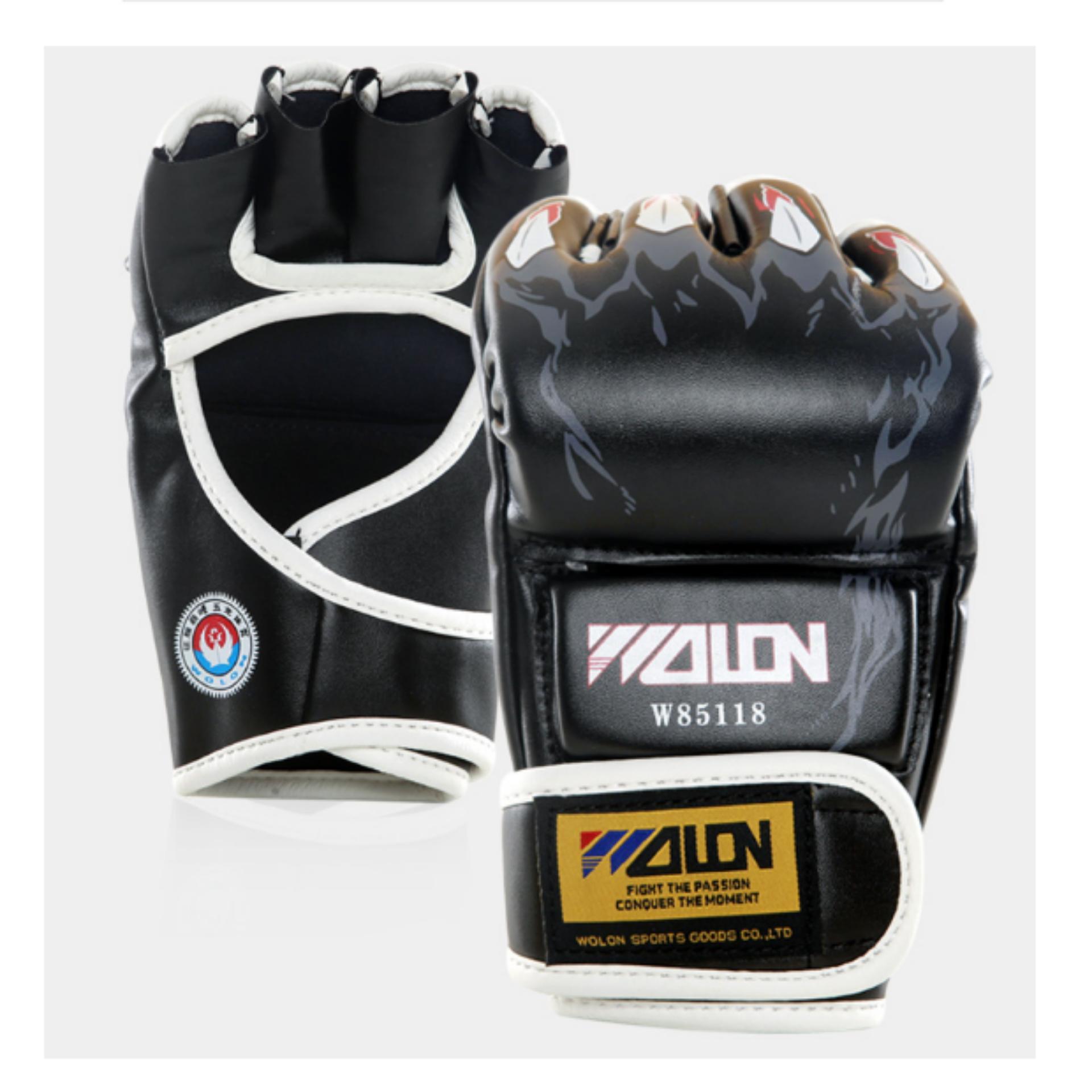 Găng tay đấm bao cát / MMA wolon (đen)