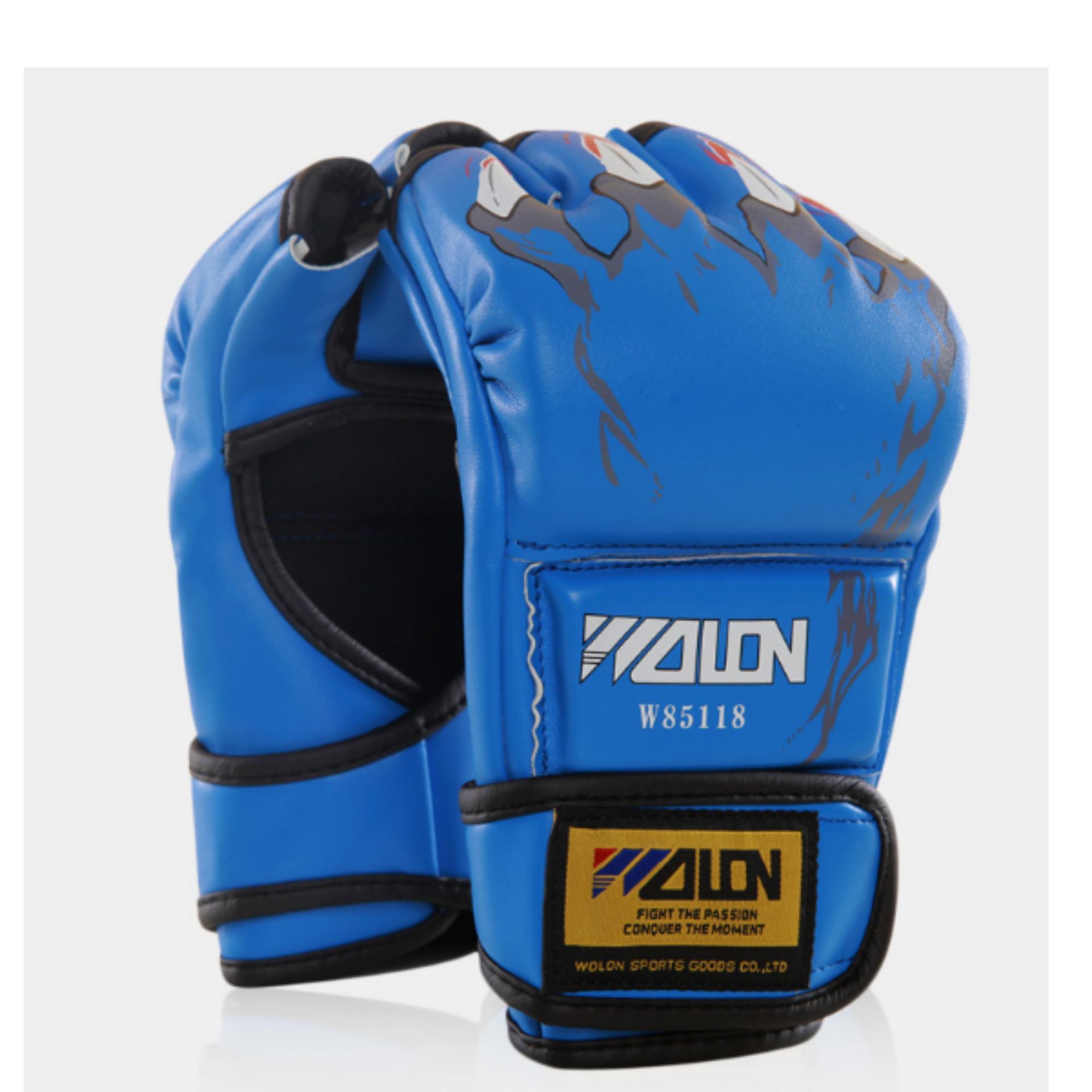 Găng tay đấm bao cát / MMA Wolon (Xanh)